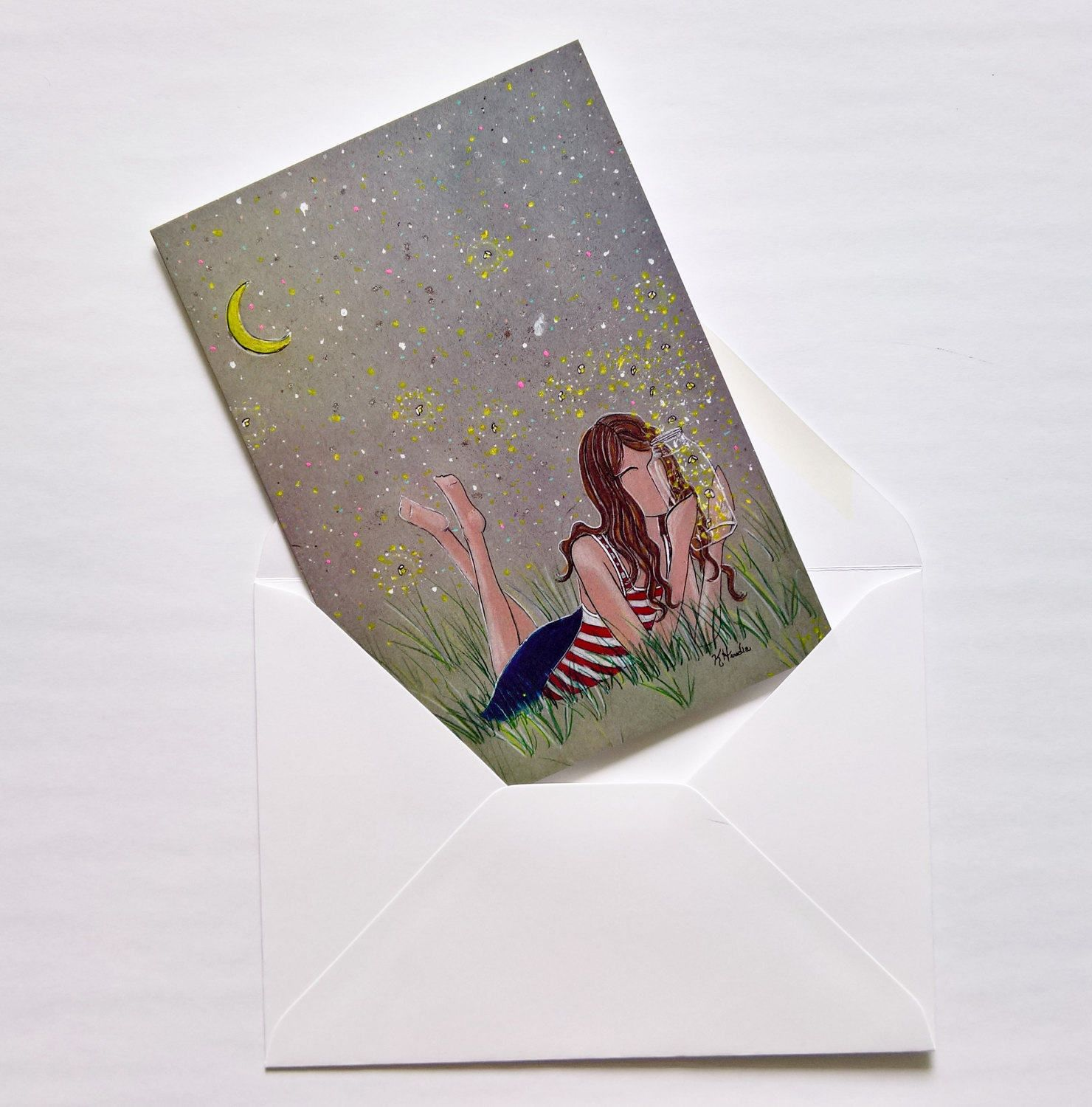 Incandescently   Note Cards   Gifts For Her     Individual   Fireflies    Dream   Summer NIghts   She Believed   Encouragement   Stars By  KristinaHerediaArt ...