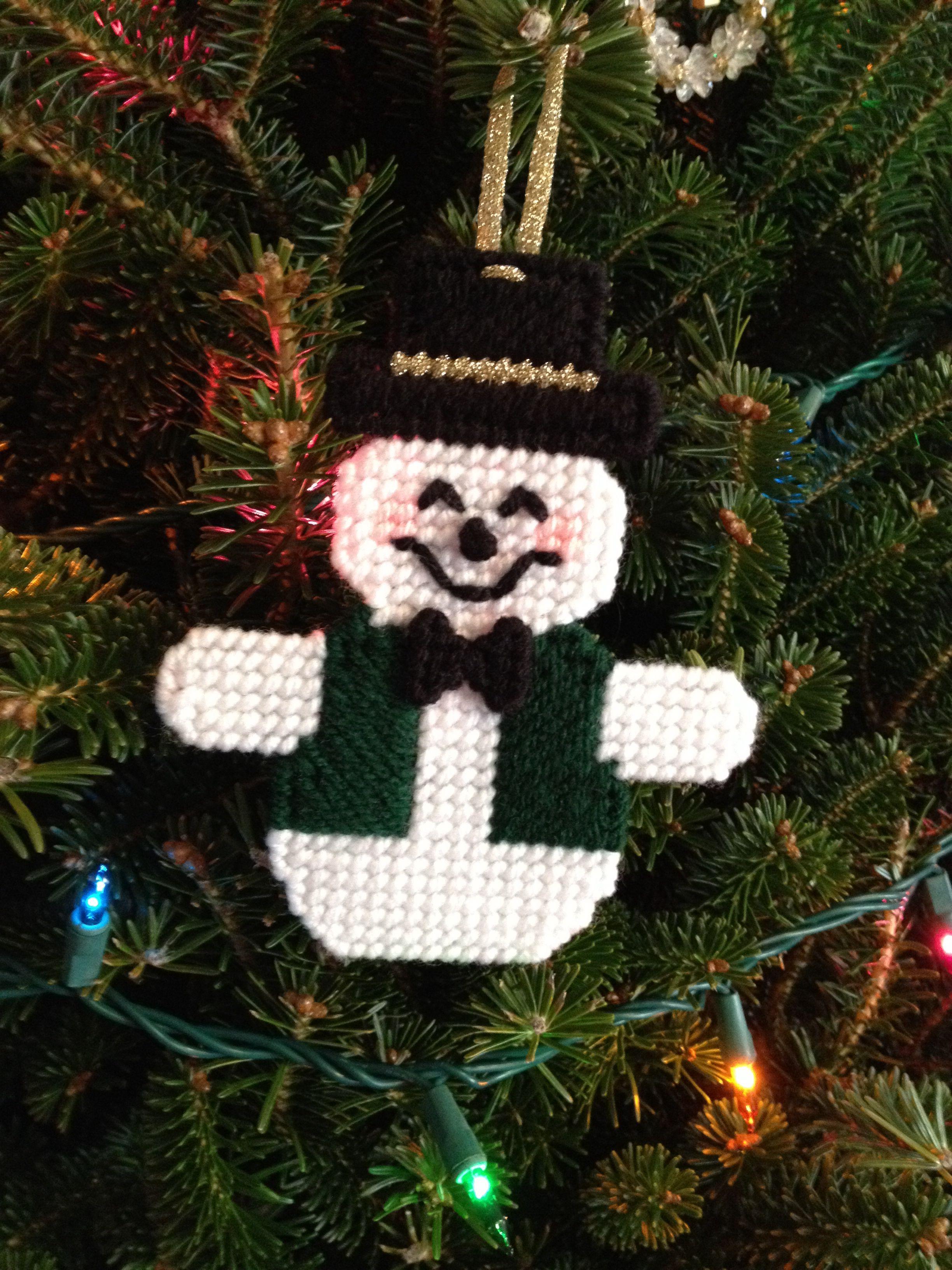 Plastic Canvas Christmas Ornaments.Plastic Canvas Snowman Finished Projects Plastic Canvas