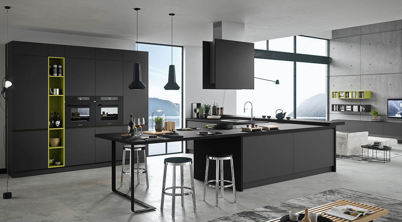 Silkki Trendy Kitchens With Advanced Materials Showroom Miami Artre Furniture Wynwood Designdistrict K Domashnie Kuhni Italyanskie Kuhni Idei Interera