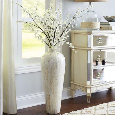 Ivory Mother Of Pearl Floor Vase
