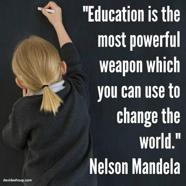Inspirational Quotes | Nelson Mandela #quotes #education #nelsonmandela #changetheworld