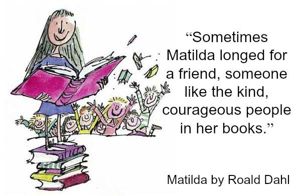 Quotes on Reading from Roald Dahl's Matilda Reading