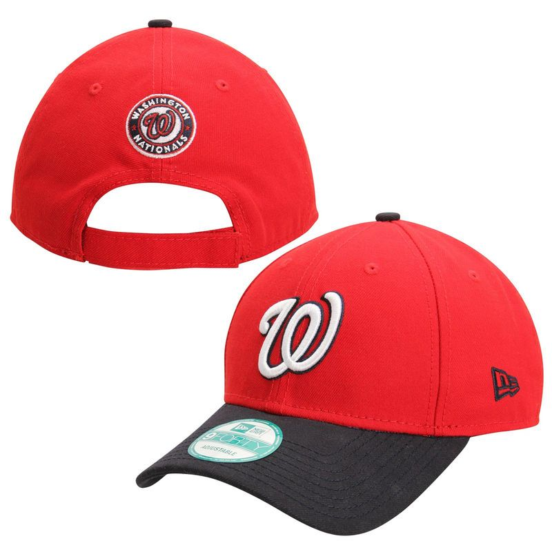 Washington Nationals New Era The League 2-Tone Adjustable Hat - Red ... 63b12f79e142