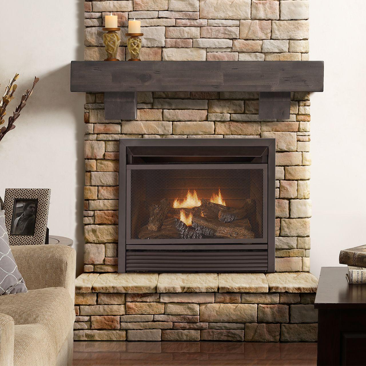 Procom Fireplaces 29 In Ventless Dual Fuel Firebox Insert Fbnsd28t Fireplace Shelves Gas Fireplace Ventless Fireplace