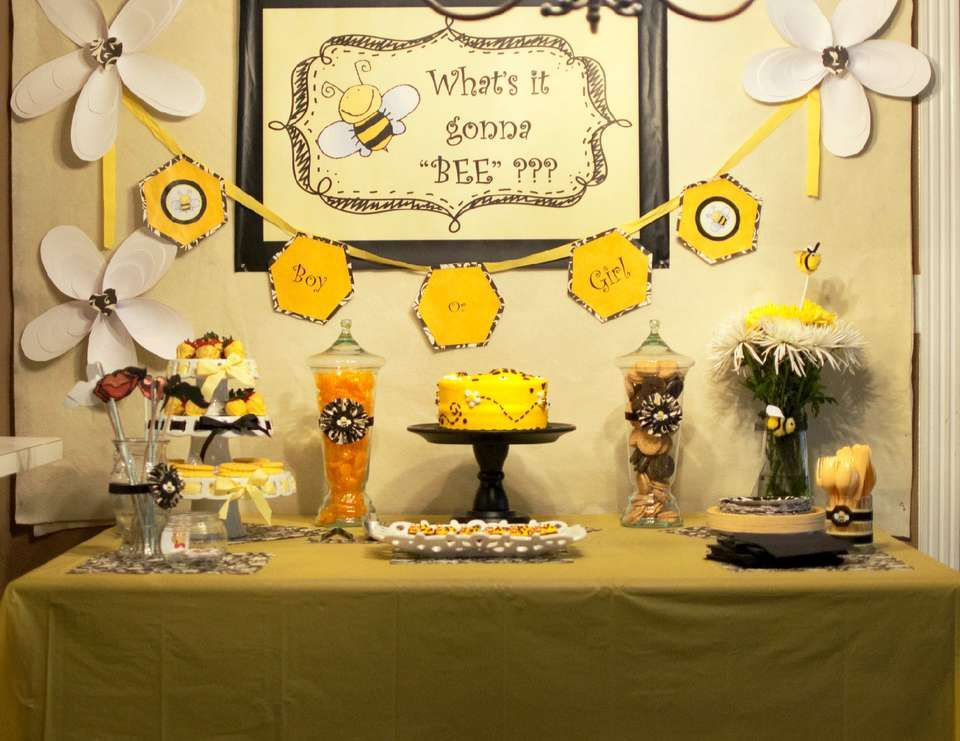 Bee Gender Reveal What Will It Bee Baby Shower Themes