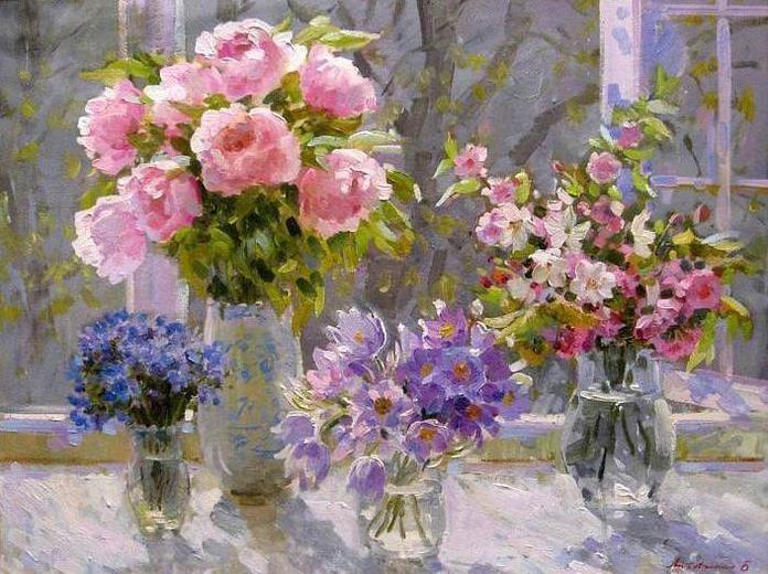 Litovchenko Boris. Flores de primavera