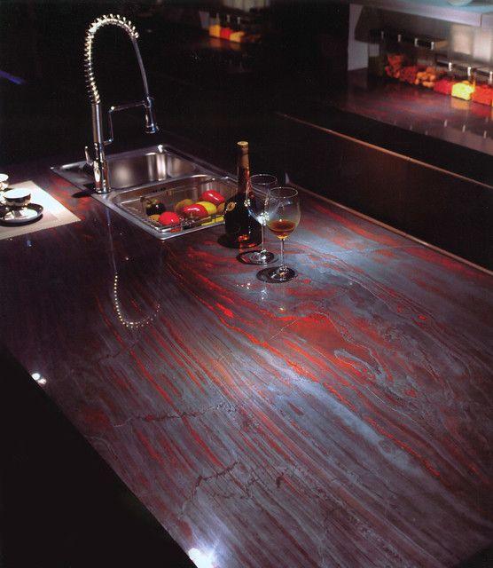 Die #Granit #Arbeitsplatten #Iron #Red sind langlebig und ...