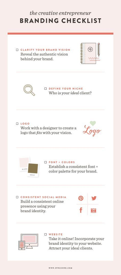 Creative Entrepreneur Branding Checklist Creative, Business and - business startup checklist