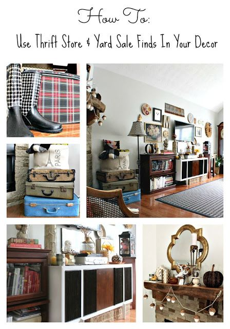 Trashtastic Tuesday How To Use Thrift Yard Finds In Your Home Decor Lots Of Great Ideas And Diy