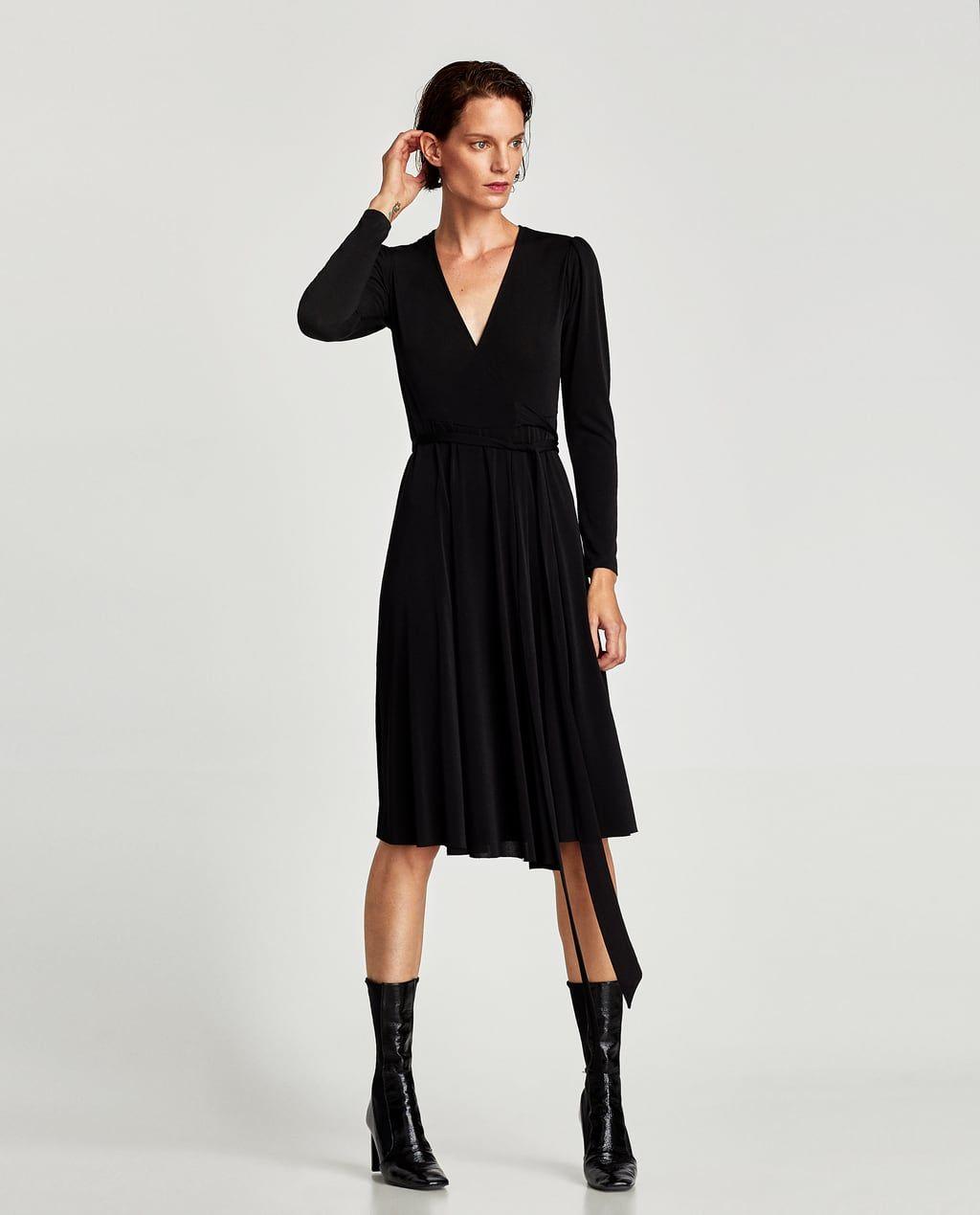 Midi jurk met lange mouwen