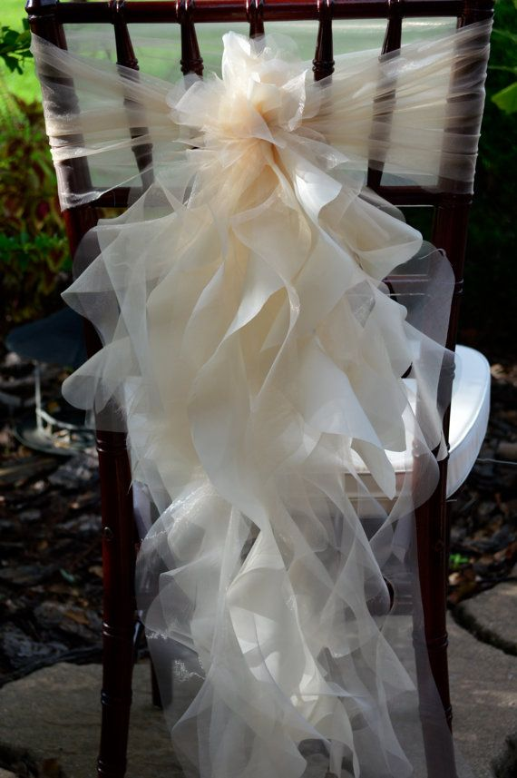 Set Of 10 Custom Chair Sashes Curly Accents Amp Optional