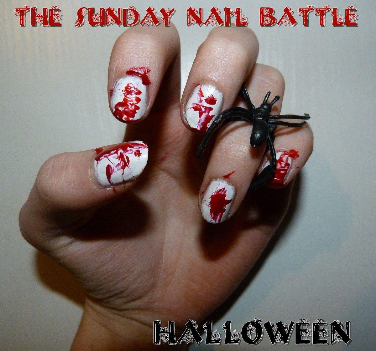 Pins check out www mynailpolishobsession com for more nail art ideas - Halloween Nail Art Dexter Check Out Www Mynailpolishobsession Com For More Nail Art Ideas