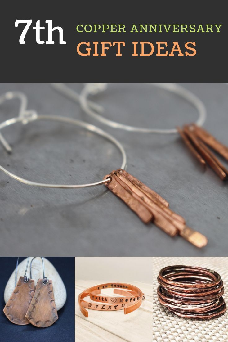 7th copper anniversary gift ideas with images copper
