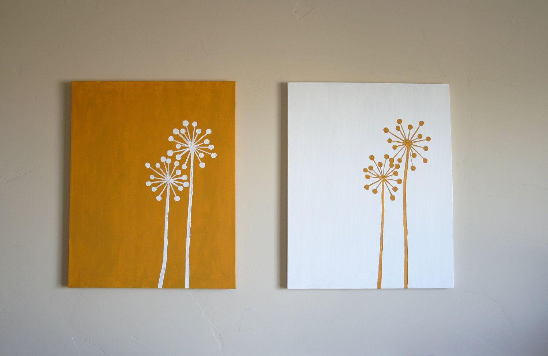 Inverse Dandelion Paintings