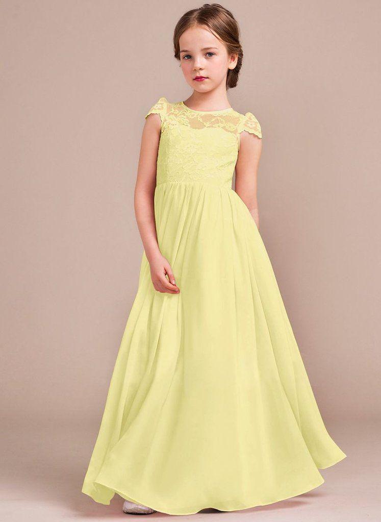 c528c46cf POPPY - Lemon - Belle Boutique / Junior Bridesmaids Dress Option ...