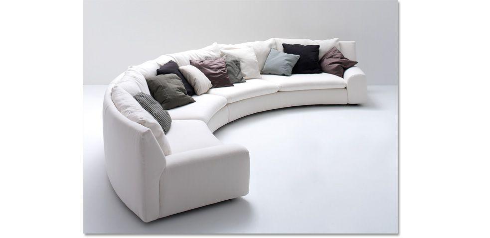 Arflex divano ben ben curvo design cini boeri composizione curva composta da 4 elementi per un - Divano curvo design ...
