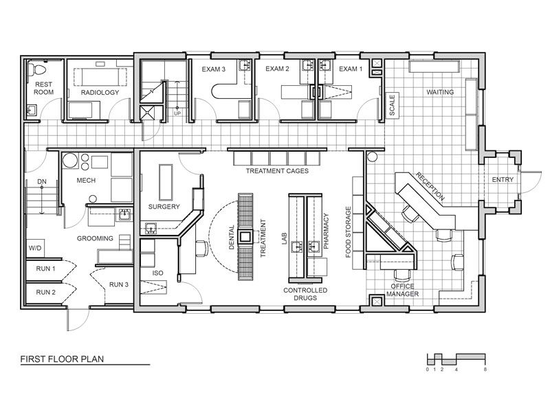 veterinary clinic floor plans l shaped google search
