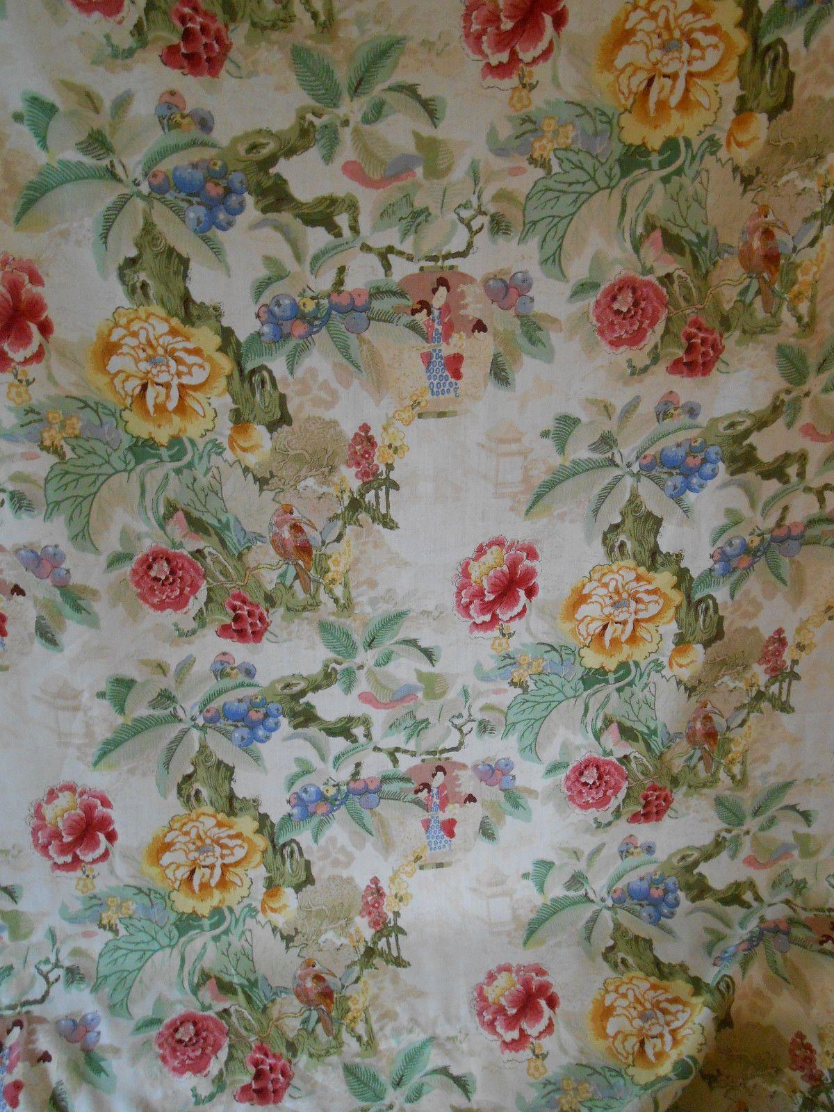 Lee Jofa Handblock Fabric Quot Chinese Lantern Quot 6 Yards Retail
