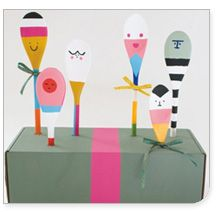 Spoon Friends tutorial by Todd Oldham from his book Kid Made Modern