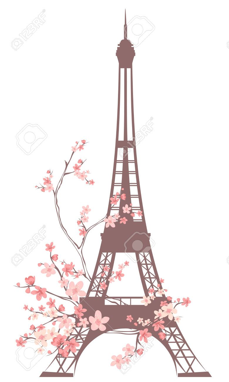 Previews 123rf Com Images Cattallina Cattallina1405 Cattallina140500001 27948216 Eiffel Tower Outline Among Pink Flow Paris Wallpaper Eiffel Tower Paris Images