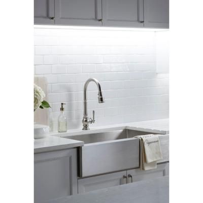 KOHLER Artifacts Single-Handle Pull-Down Sprayer Kitchen Faucet in ...