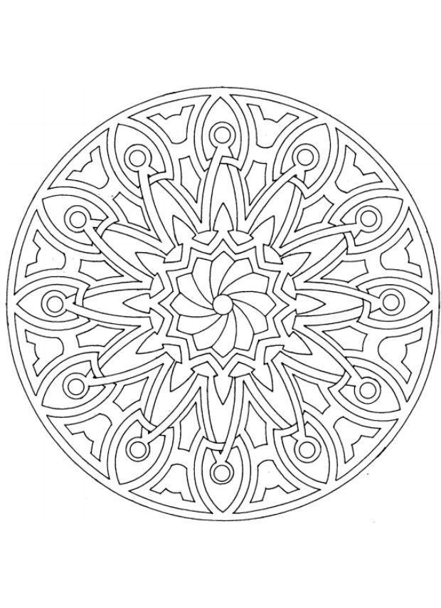 mandala-4482.jpg (620×854) | Раскраски мандала, Раскраски ...
