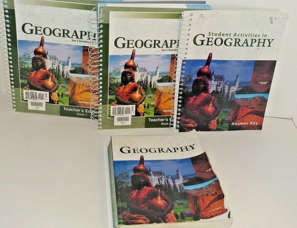 Bob Jones University Press 9th Grade Geography 2nd Edition Four Book