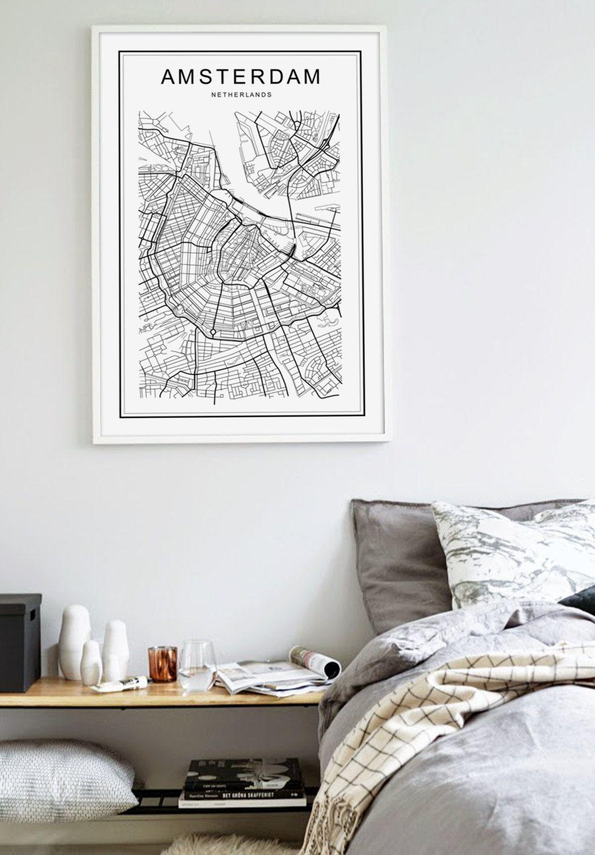 Amsterdam Map Amsterdam Map Print Amsterda Print
