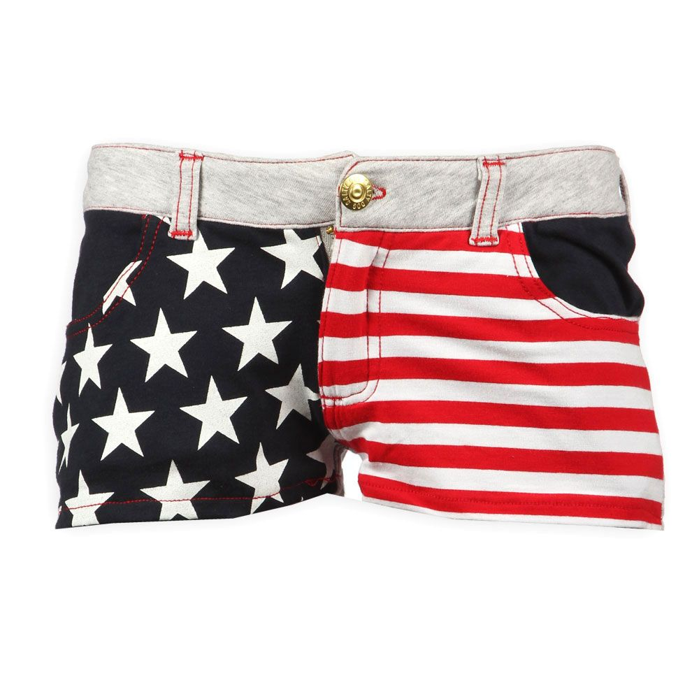 Salty Dog Kinderkleding.Salty Dog Kindermode Kortebroek Voor Meisjes Hotpants Usa Print