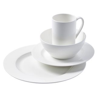 Shop for Cascade Round Bone China Dinnerware 16-piece Set. Get free delivery at  sc 1 st  Pinterest & Shop for Cascade Round Bone China Dinnerware 16-piece Set. Get ...