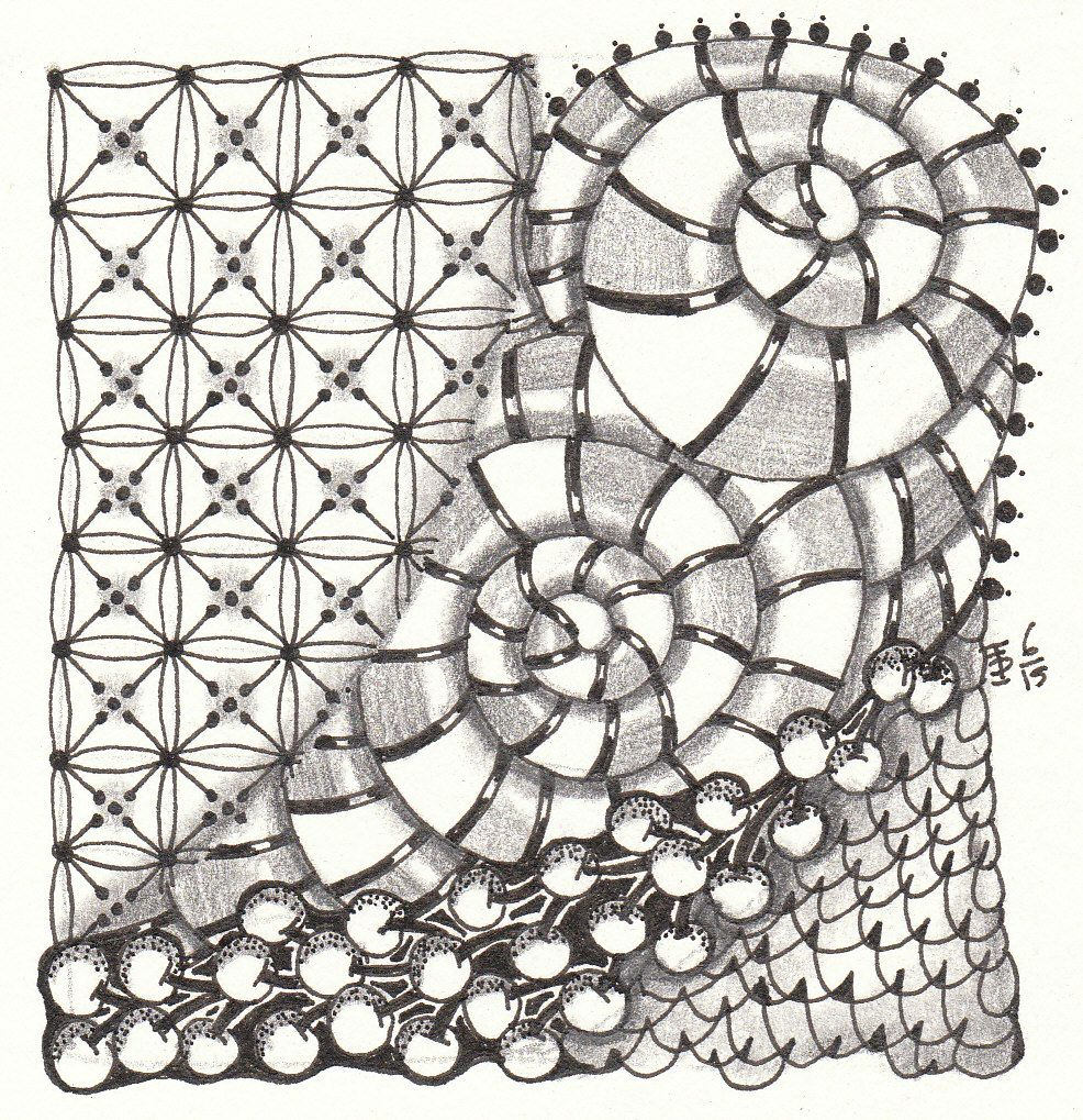 Zentangle made by Francine Derks CZT 17.