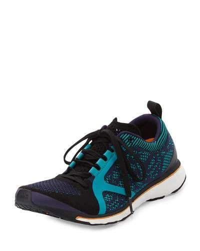 ADIDAS BY STELLA MCCARTNEY Adizero Adios Knit Sneaker, Blue. #adidasbystellamccartney #shoes #