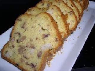 Cake au boudin blanc et aux châtaignes