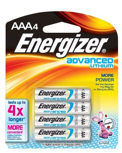 Energizer Advanced Lithium Aaa Battery 4 Pack By Energizer 7 67 Energizer Ultimate Lithium Batteries Deliver Lon Energizer Energizer Battery Lithium Battery