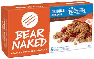 Bear Naked Granola Pouches, Fruit and Nutty, 12 Ounce Pack