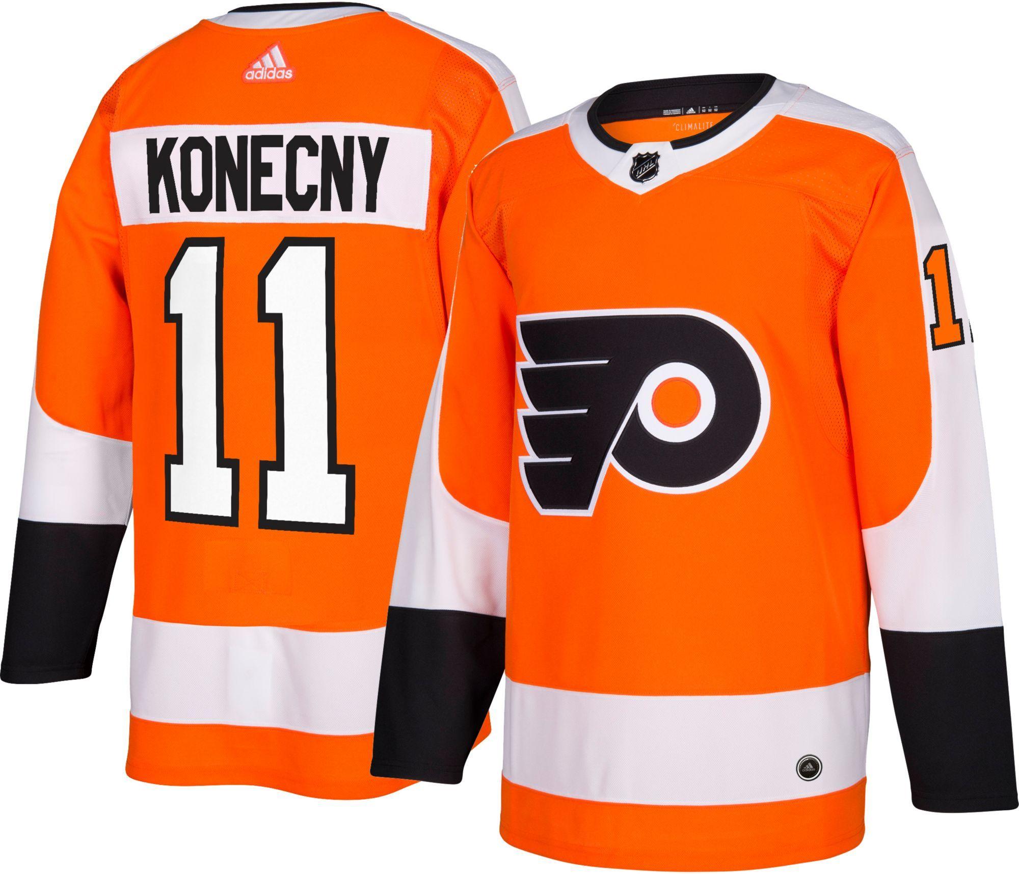 adidas Men s Philadelphia Flyers Travis Konecny  11 Authentic Pro Home  Jersey 2005a8020