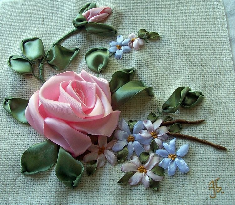Keti N Ribbon Embroidery Pinterest Embroidery And Ribbon