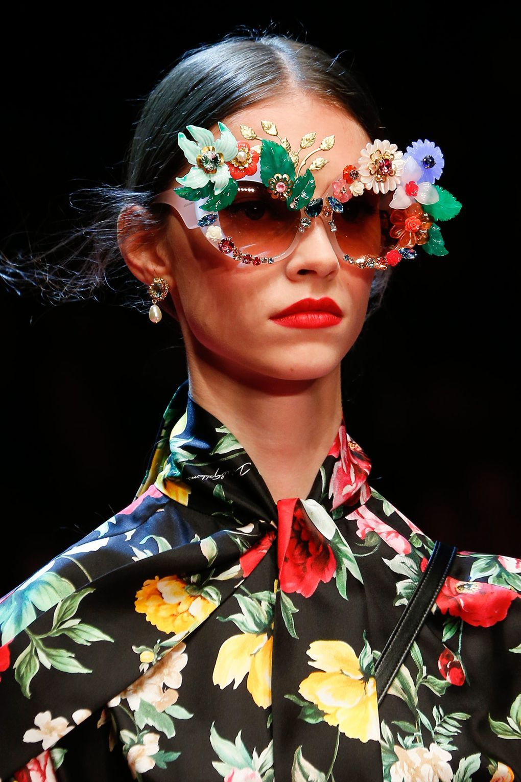 14c860ce4c0f 10 totally extra sunglasses at the Dolce & Gabbana show this weekend ...