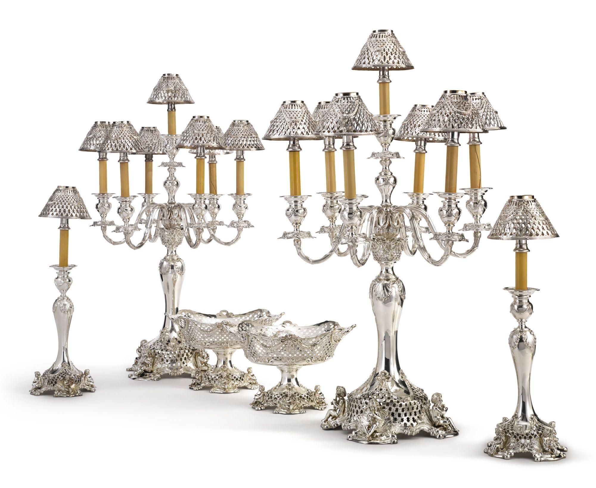 An American silver table garniture, Howard & Co., New York