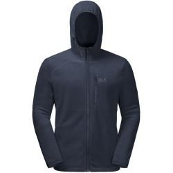 Photo of Jack Wolfskin fleece jacket men Skywind Hooded Jacket Men L blue Jack Wolfskin
