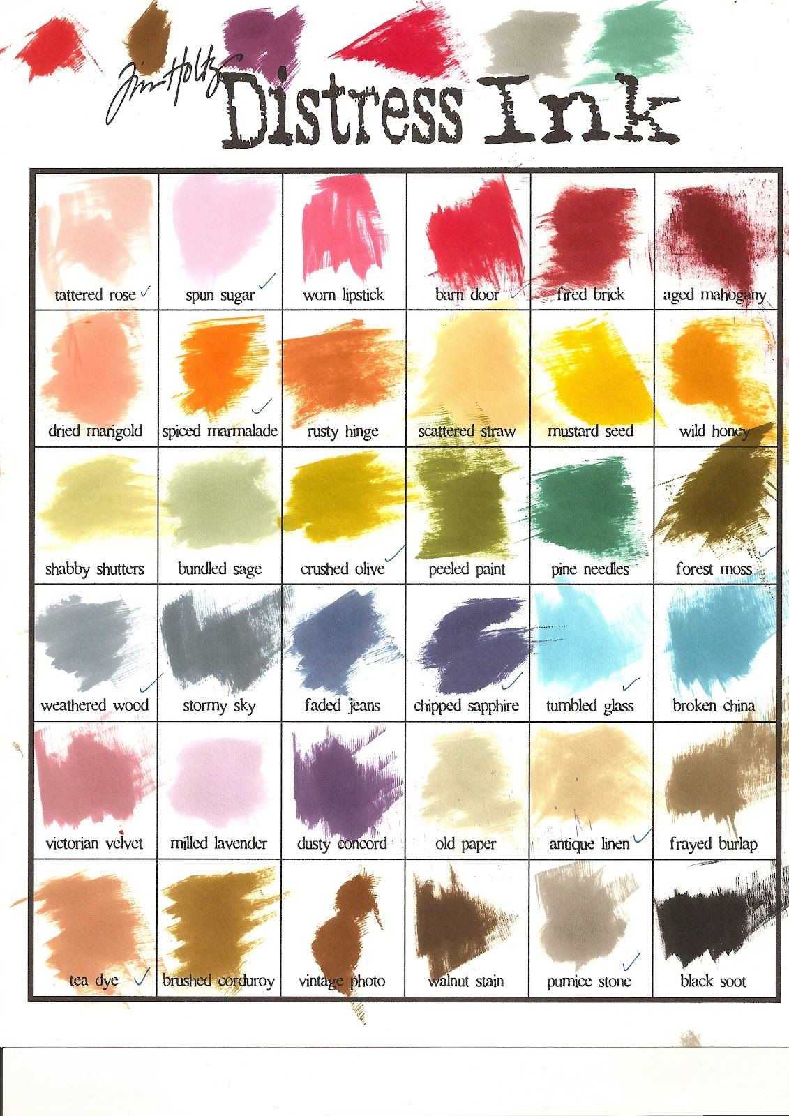 Ranger Ink Color Chart Google Search Tim Holtz Distress Ink Distress Ink Tim Holtz Distressed