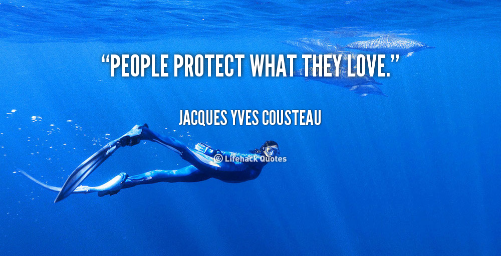 People Protect What They Love Jacques Yves Cousteau Quote