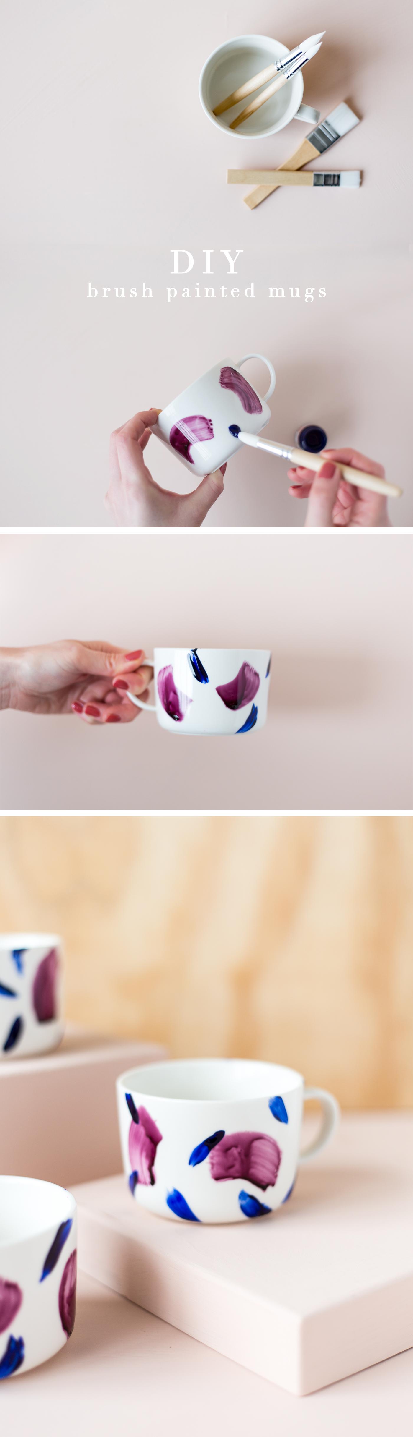 Кружки для кофе с художественной росписью и росписью DIY |  Падение для DIY