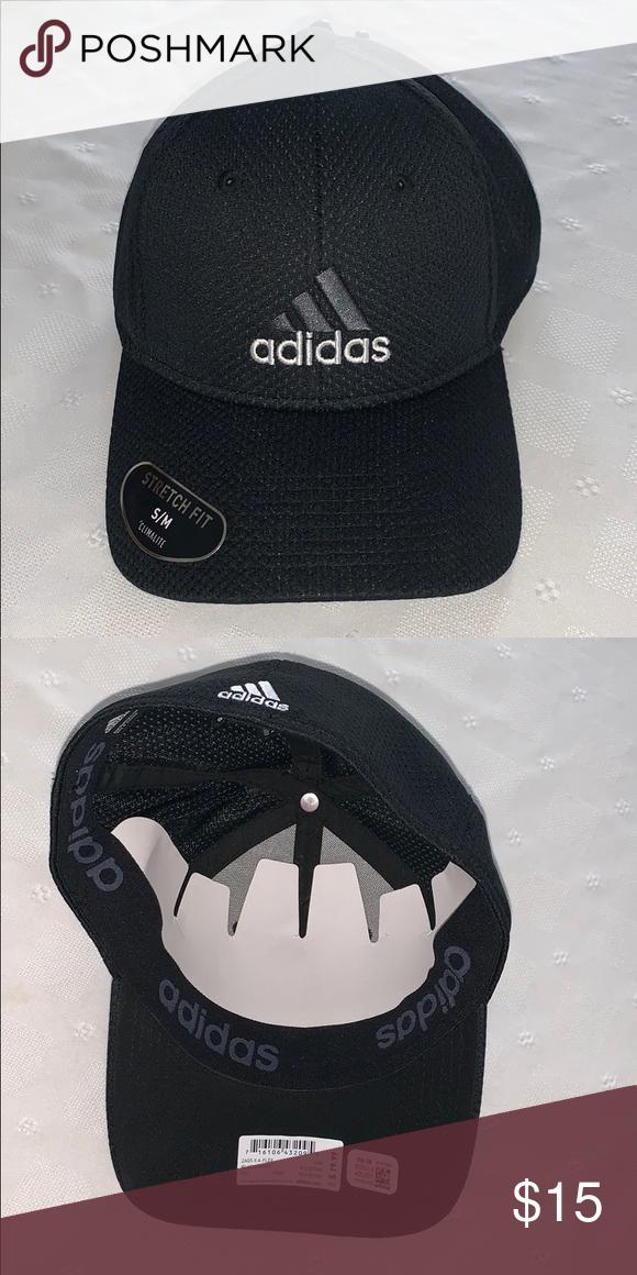 145e40e6 ADIDAS ZAGS II A-FLEX hat NWT; S/M stretch fit; Climalite; black ...