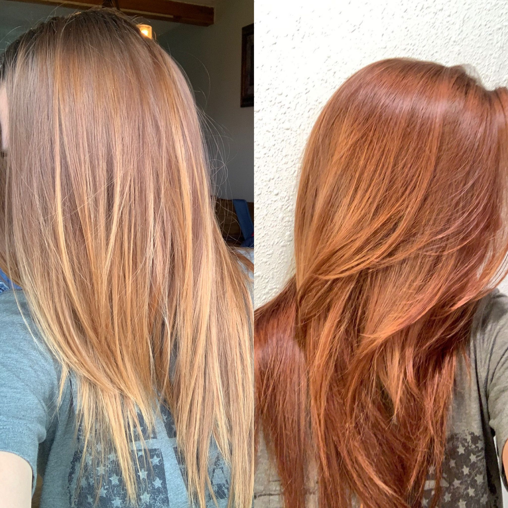 Redken Shades Eq Before After Copper Red 1oz Redken Shades Eq Cream 07gc 1oz 07g 1oz 06c Used 10 V Red Hair Toner Red Hair Formulas Hair Color Formulas