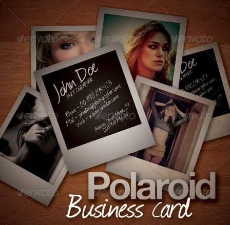 Polaroid Business Card Template businesscard Pinterest Card - polaroid template