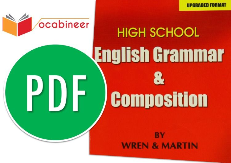 wren and martin english grammar ebook pdf free download