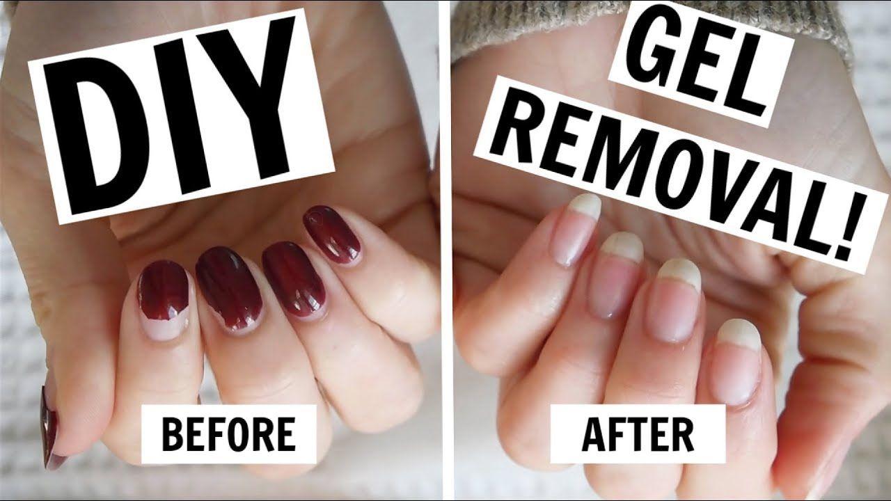 At Home Gel Manicure Removal No Foils No Damage Youtube Gel Manicure At Home Gel Manicure Gel Nails Diy