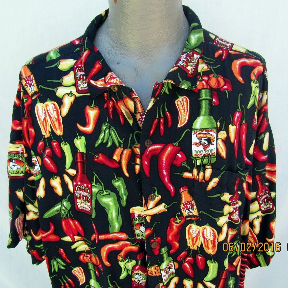Hawaiian Clothing Hot Sauce Mens Hawaiian Shirts Aloha Shirt