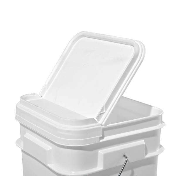 Illing Part 830825gw 2 1 5 Gallon White Plastic Square Open Head Pail W Tear Strip Hinged Lid Plastic Square Open Head Pails Are Hinged Lid Hinges Gallon